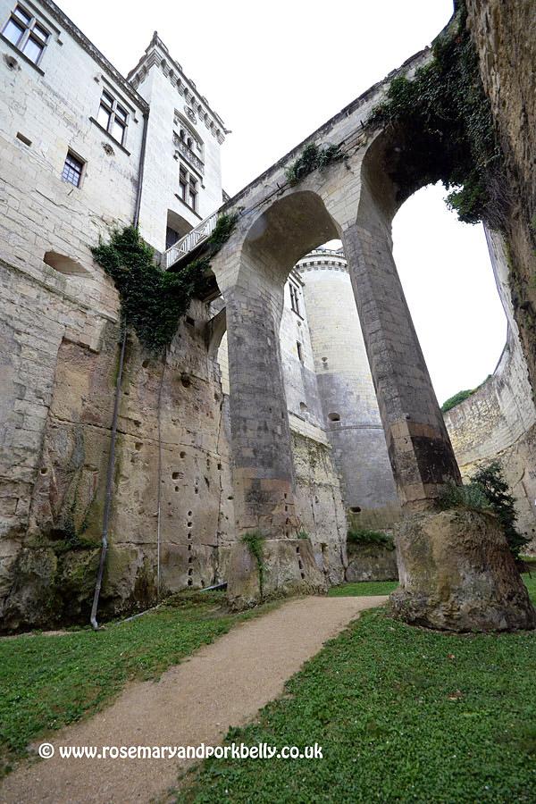 Deep dry moat Château de Brézé Loire France