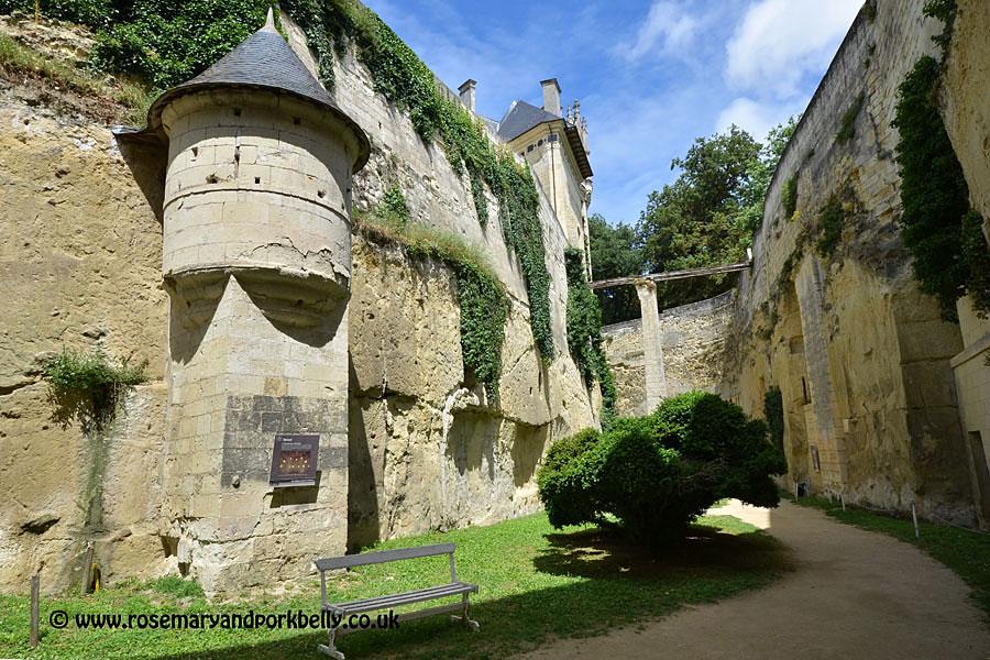 Fortified moat Château de Brézé Loire France