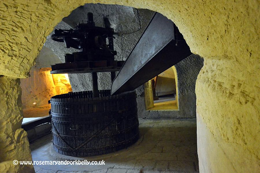 Old wine press Château de Brézé Loire France