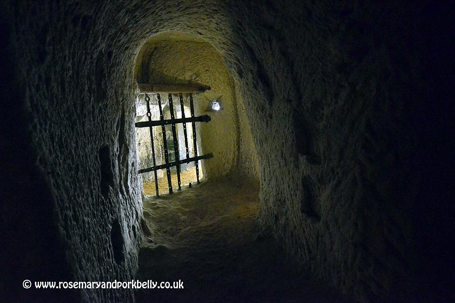 Underground lookout Château de Brézé Loire France