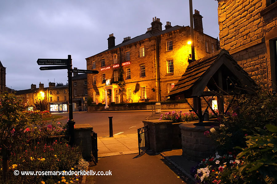 The Rutland Arms by night - Bakewell Derbyshire