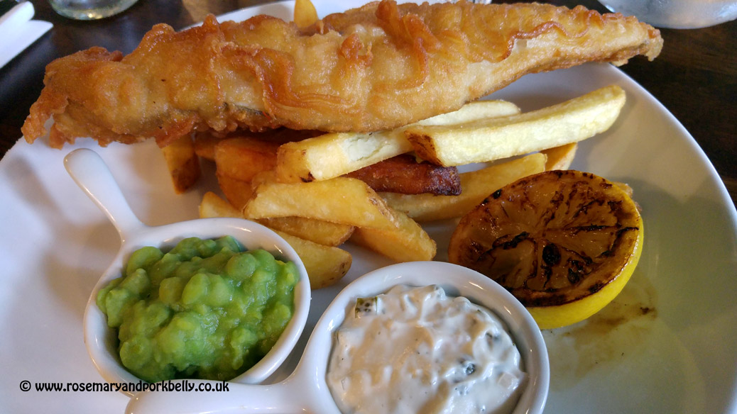 Gluten free beer battered haddock and chips - The Walrus Brighton