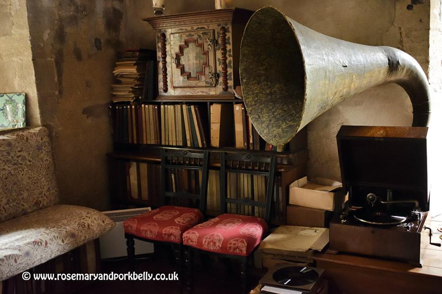 The old gramophone at The Manor Hemingford Grey