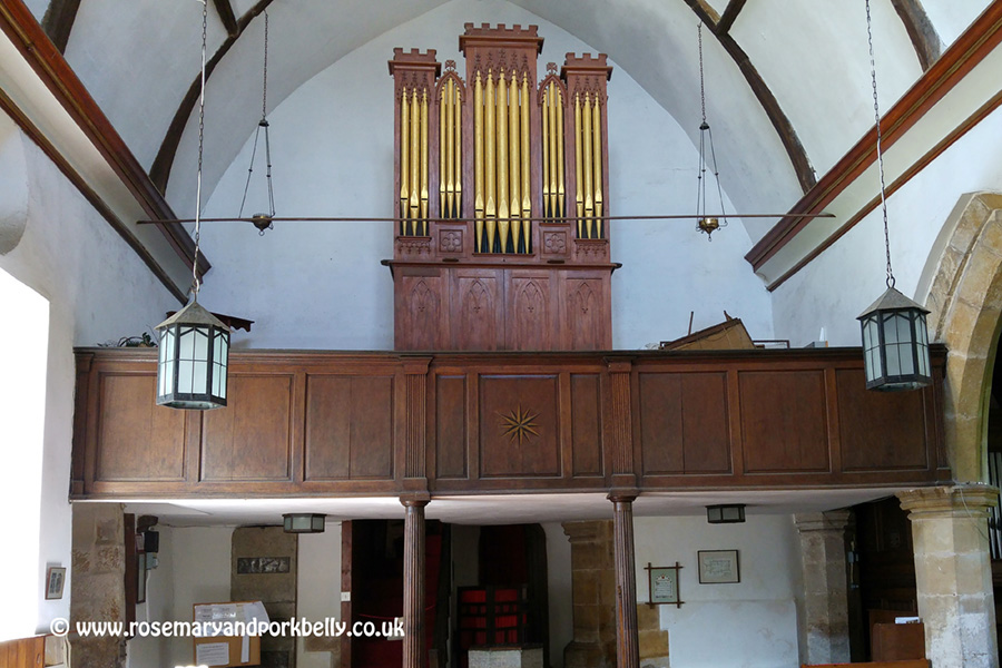Barrel organ given by John Fuller to Brightling St Thomas à Becket church East Sussex