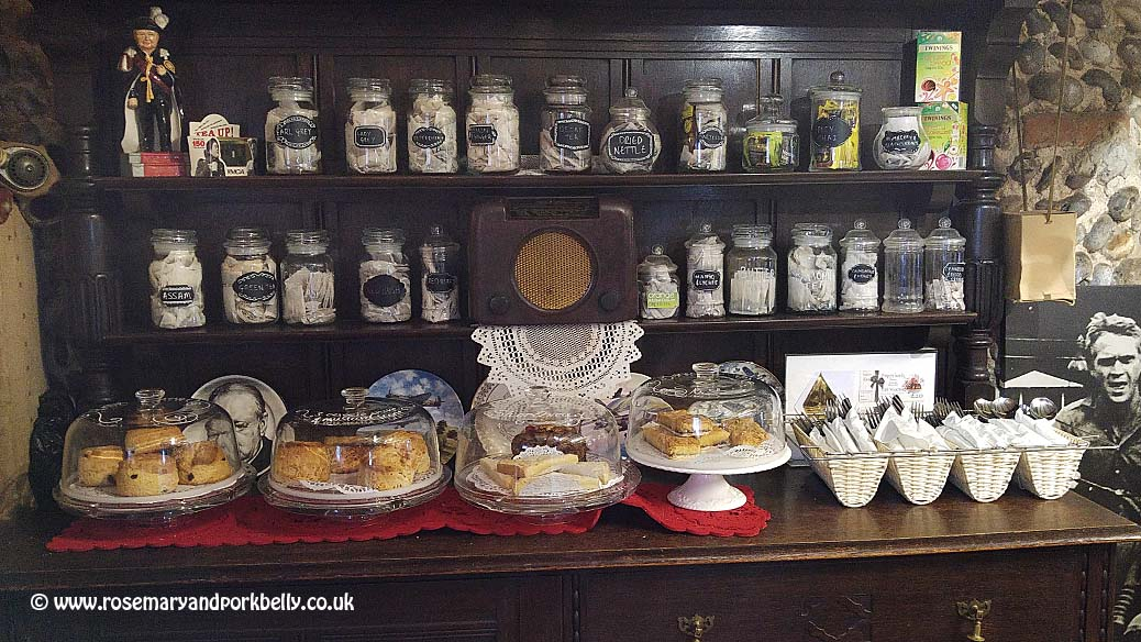 Scones and tea selection - Poppylands Horsey Norfolk