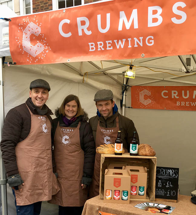 Crumbs Brewing market stall